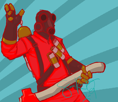 TF2 - Rock on, Pyro by SuperKusoKao