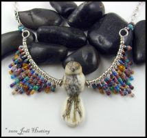 Lampwork and Sterling Necklace by Beadworx