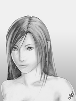 Tifa Portrait by white-materia