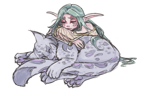Napping Sketch by myre