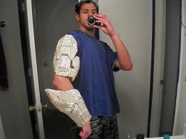 forearm and bicep armor by Freshbreath3