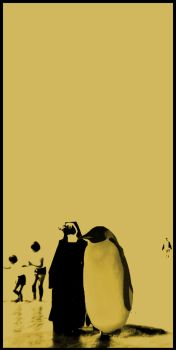 Beach of Penguins by Notnothing