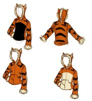 Arcanine Hoodie Sketches by evion
