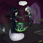 Casting a spell on the self-centered brat by Warriocat12