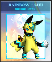 RC: Michiru - Cyan Rainbowchu by Pikachim-Michi