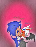 ...Love ...Sonic and Rouge...Kiss... by kenli3