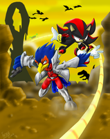 Shadow and Falco by Faezza