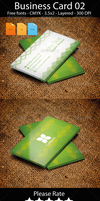 Business Card Design Green by artgh