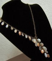 Moonstone chain necklace by asukouenn