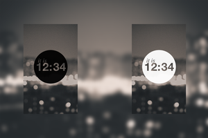 Dresses for Android - One More Clock Widget by xllx