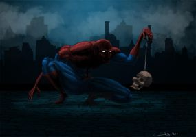 Spidey and skull final by MonsieurBaron