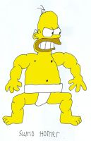 Homer the Sumo by maniacaldude