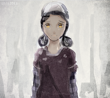 Clementine Fanart  : Please help me Lee ! by chin3311