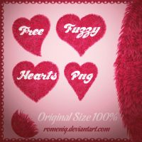 Fuzzy Hearts Brush Png File by Romenig