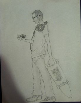 Drawing of a friend by EmilyMidWest