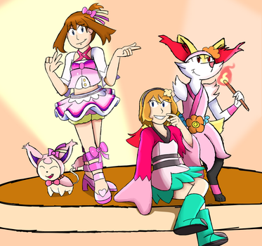 The Princess of Hoenn and the Future Kalos Queen by Monstermanic59