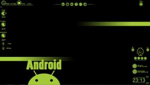 Android Theme Rainmeter by ghostgrafix