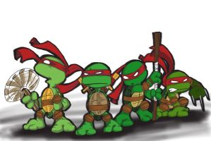 Ninja Turtles by DJScurvy