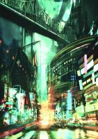 City speedpaint #1 by outstarwalker