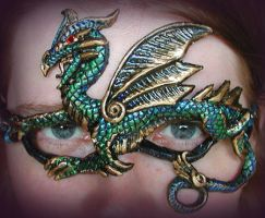 Peacock Dragon Mask by Namingway