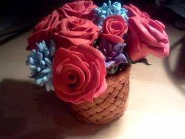 Basket with roses by lolkawaii