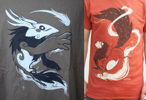 Moon and Sun Tees are HERE! by Flying-Fox