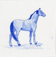Blue Horse 1 by IckyDog