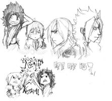 Lightning and Fang sketches by nuyorican14