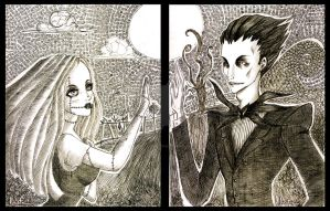 Jack and Sally by Scarlet-Adrianne