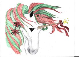 Christmas Unicorn - Recolored by DuetMaxwell