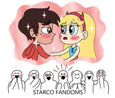 Fans who have a Starco daydream by Deaf-Machbot