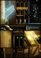 Armory Corridor - Close Up by jamga