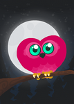 Heart Owl by Ikue