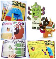 Paper Toy Monsters Book by creaturekebab
