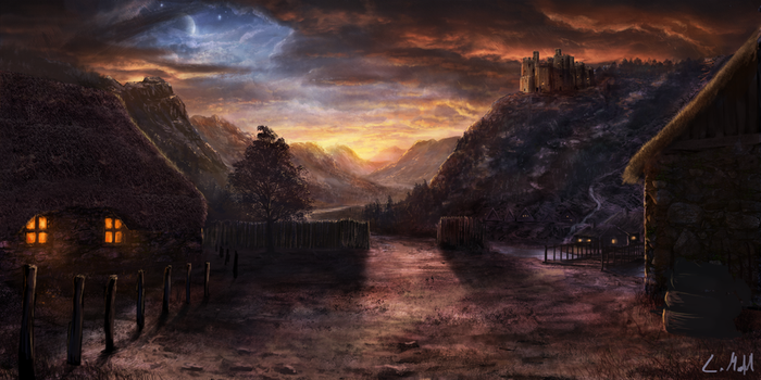 Medieval Sunset by rambled