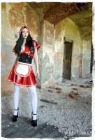 red riding hood on stage by Drastique-Plastique