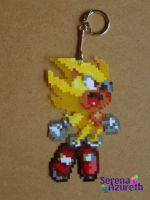 Super Sonic Bead Sprite by SerenaAzureth