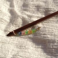 "Lettered single hairstick---""Crazy"" by ErrantDreams"