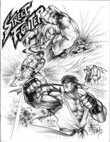 Ken y Ryu  - Hadou vs Shoryu by RAEH