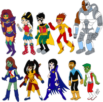Teen Titans Redesigns by TuxedoMoroboshi