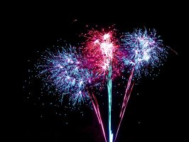 Three Fireworks 5411586 by StockProject1
