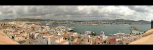 Port Of Ibiza City - Panorama by skarzynscy
