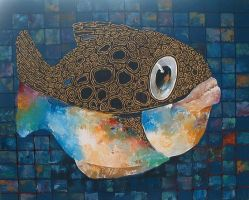 Mosaic Fish by kowelvain