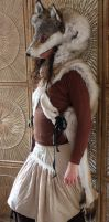 Brown Wolf Headdress by lupagreenwolf