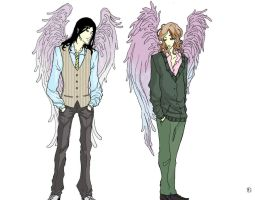 Angels Remus, Sirius by alirodina