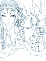 Twilight Princess Lineart by Zeruda