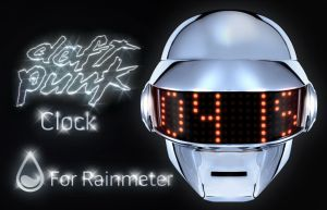 Rainmeter Daft Punk Clock (Thomas) by H-Thomson