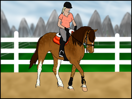 Just a dressage training by Esaqar