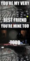 You're my best friend  Mangle and Old Foxy meme by rons13