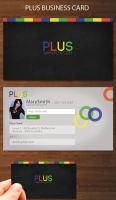 Plus business card by kimi1122